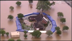 The Wipp System Protects A Home In Flooded Fort Bend County