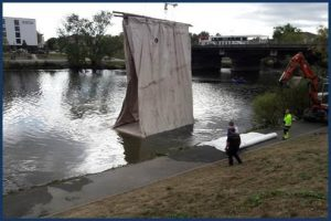 Cofferdam Comparison, Inflatable vs Earthen Dams, Hydrological Solutions