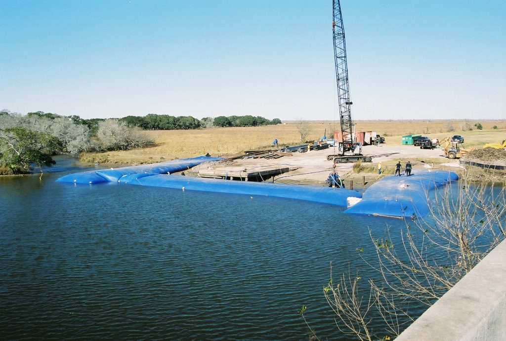 Inflatable Cofferdams for Summer Construction Projects, Aqua Barrier, Houston, TX