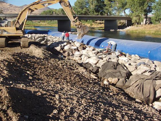 Using the Aqua-Barrier for Shoreline Restoration