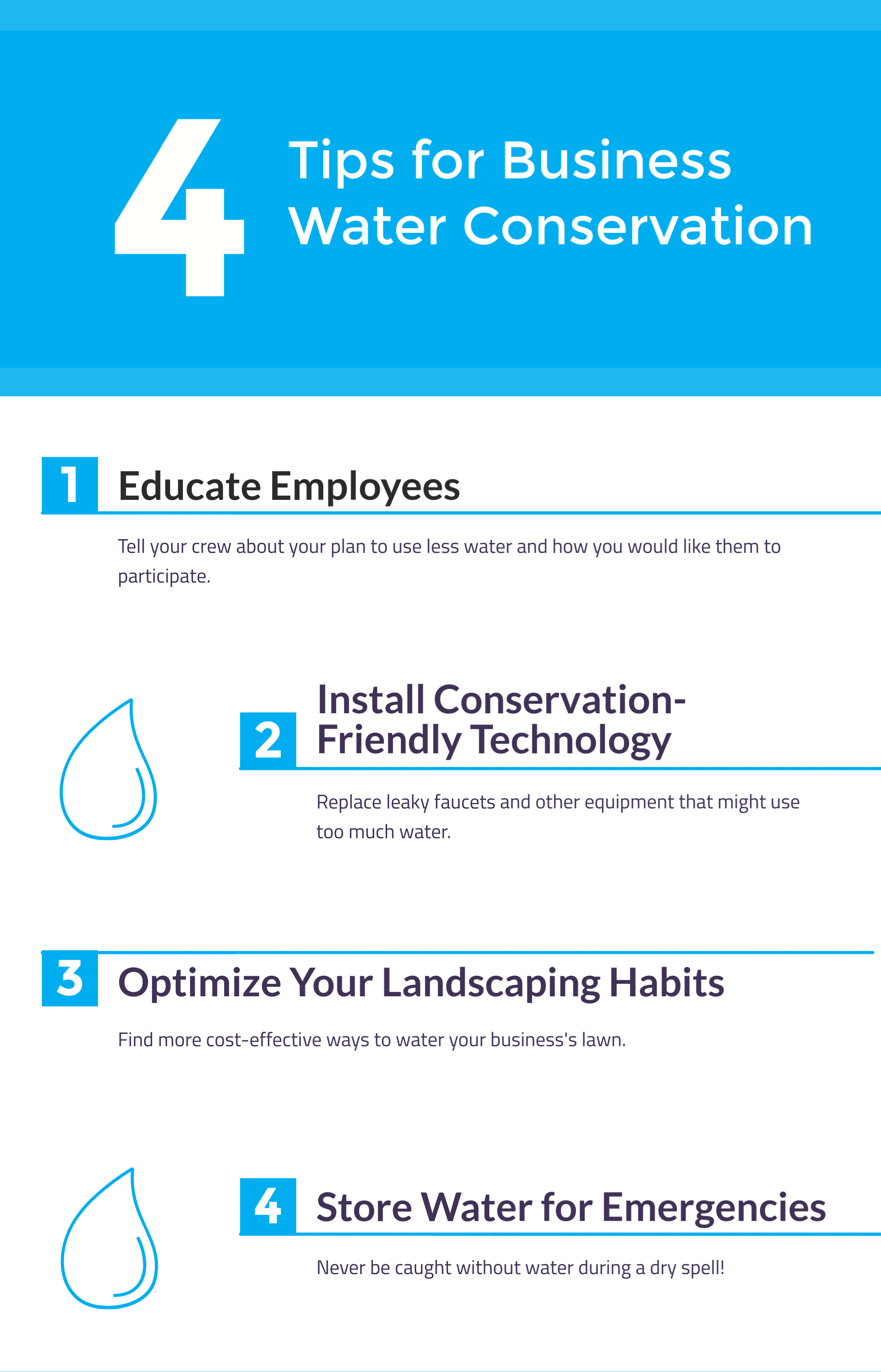 4 Tips for Business Water Conservation, HSI Services, Waller, TX