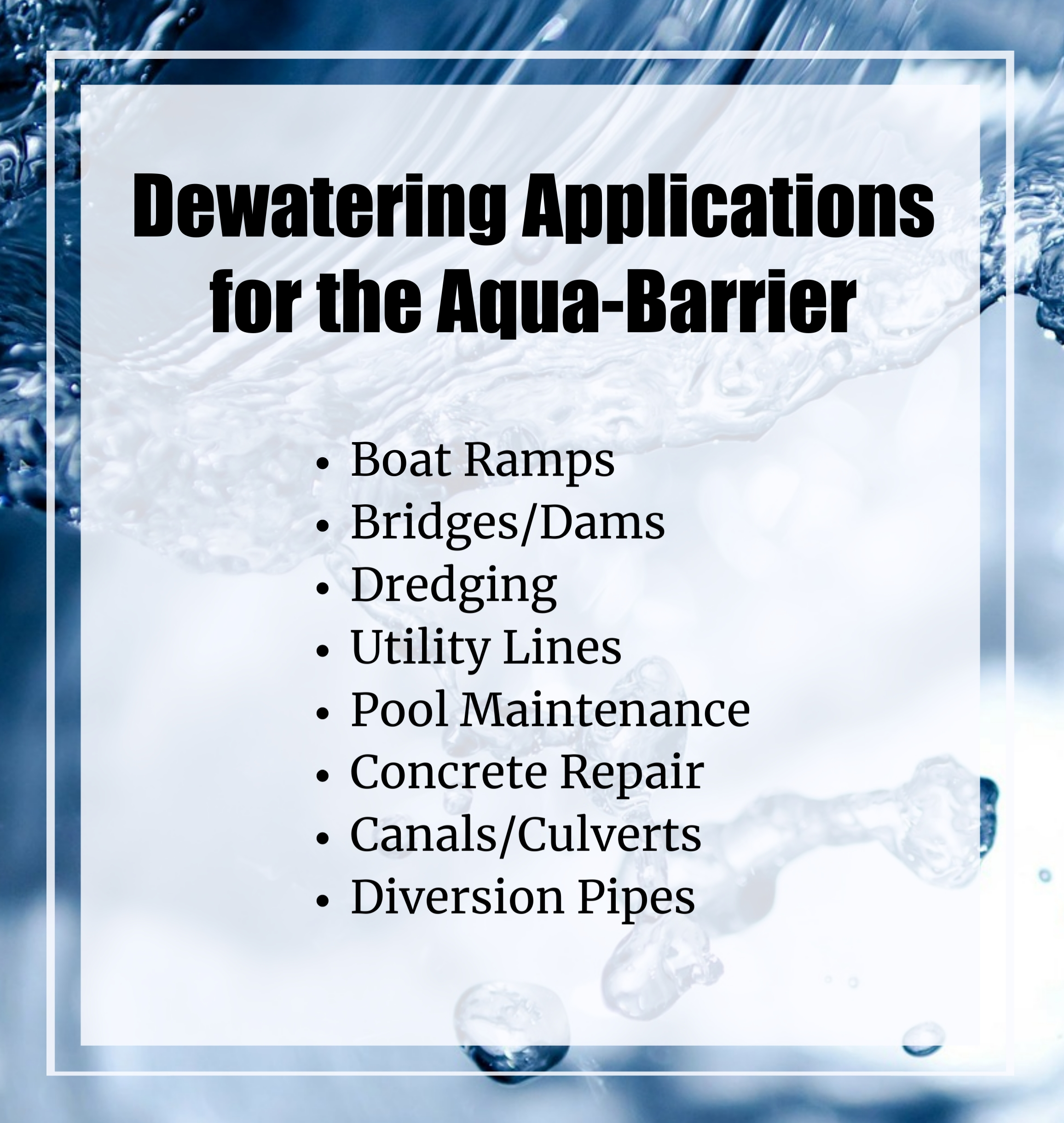 Why the Dewatering Process Matters in Construction, Aqua-Barrier, Houston, TX