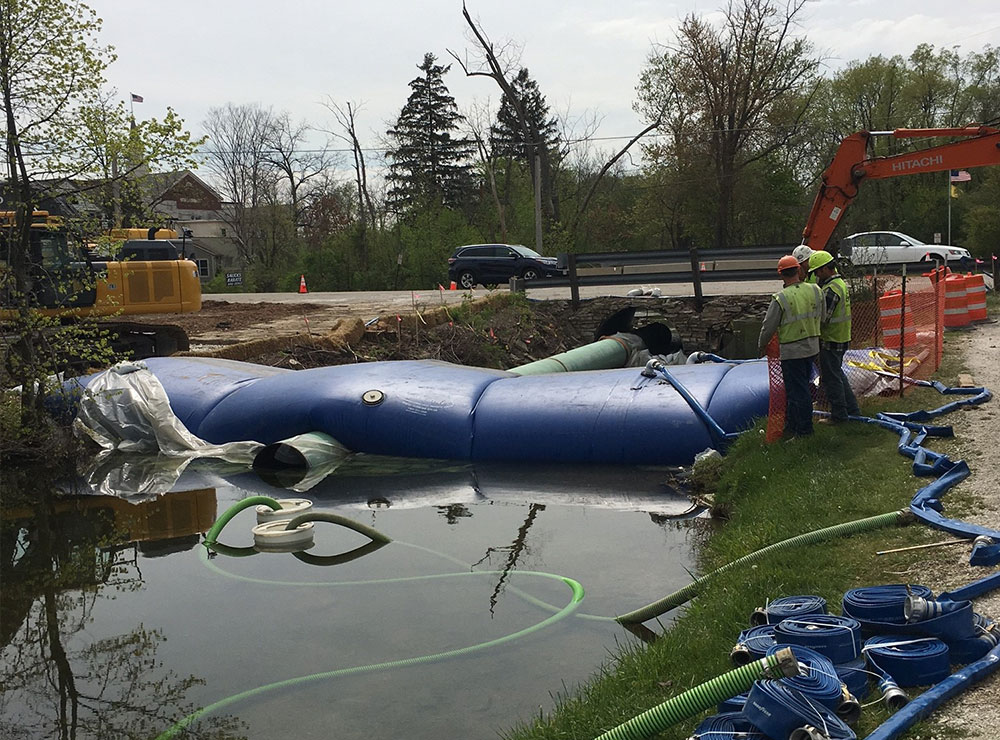 Diversion Pipes, Dewatering Solutions, HSI Services