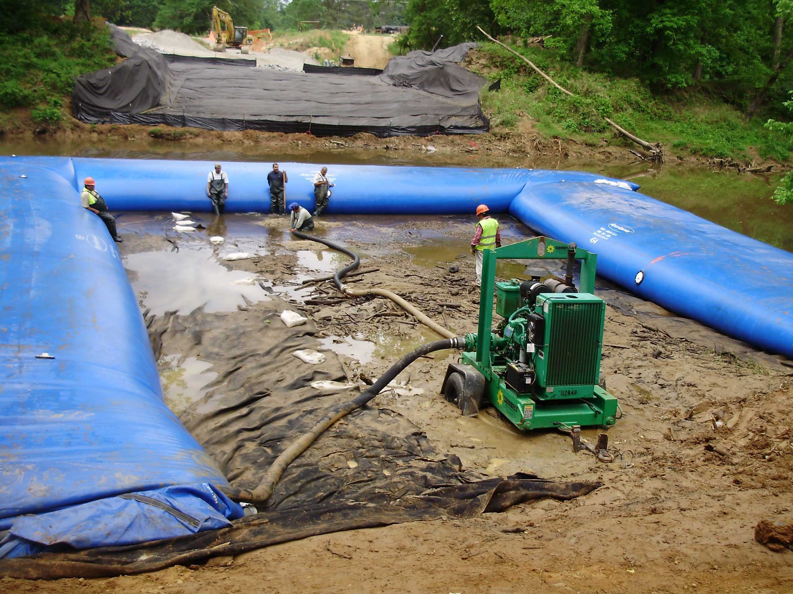 Dewatering Solutions for Underground Power Lines, Utility Line Work, HSI Services