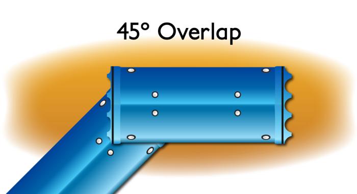 Overlap 45 Degree drawing