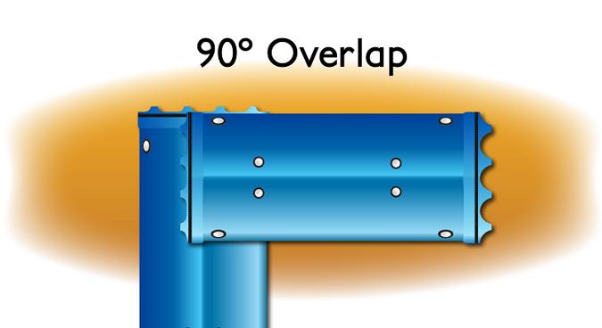 Overlap 90 Degree drawing