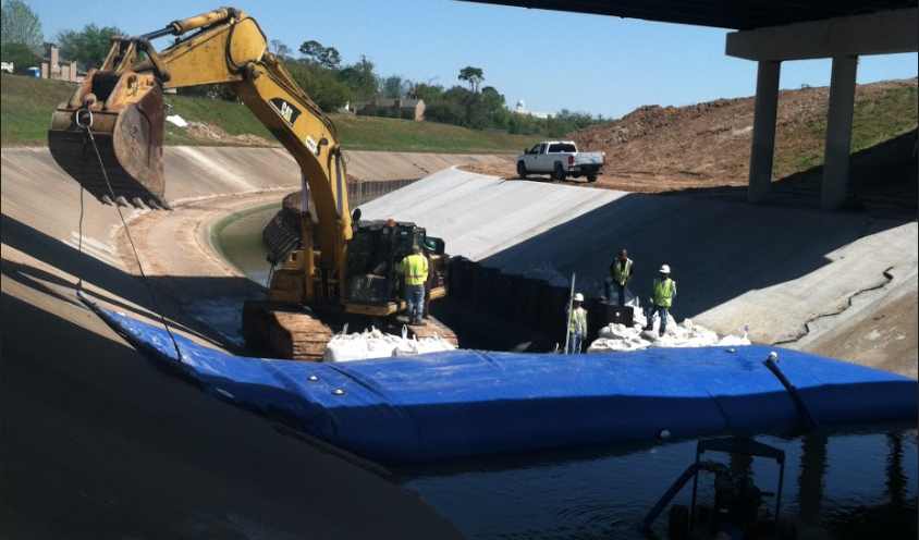 Using an Inflatable Dam for Concrete Repair