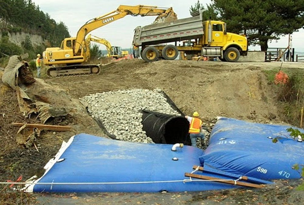 Aqua-Barrier Uses for Canal or Culvert Construction