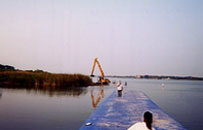Aqua-Barrier Inflatable Dam for Dredging Projects