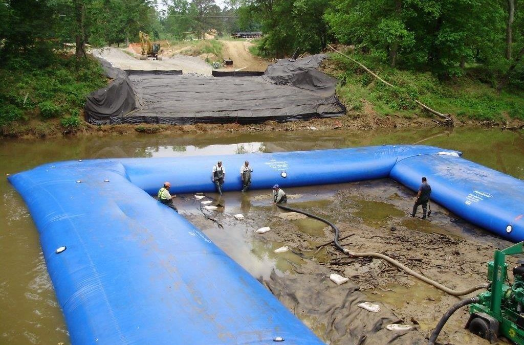 Aqua-Barrier® Inflatable Dam Dewatering Solutions for Utility Lines